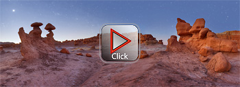Goblin Valley with Orion setting - Utah 360 degree panorama