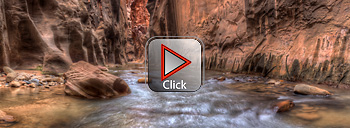 North Fork, Virgin River - Zion Narrows - Utah 360 degree panorama