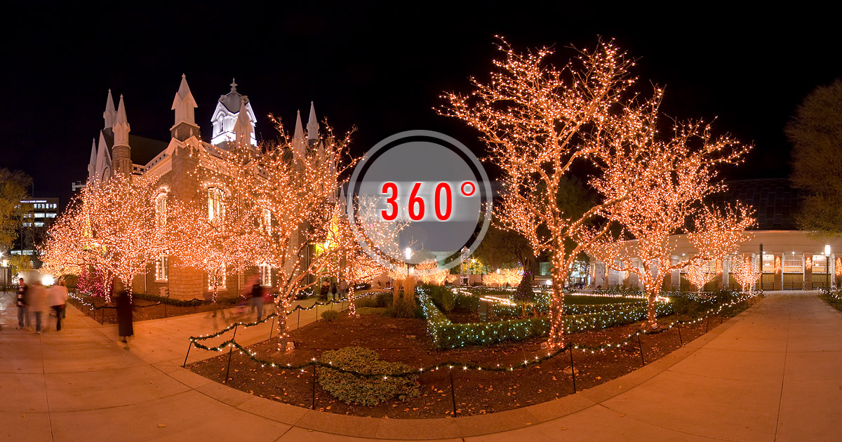 Temple Square Christmas Lights|3D Panorama