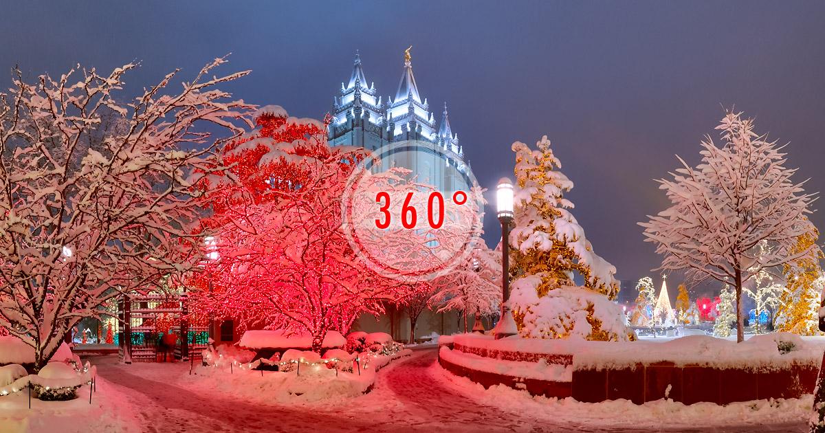 Temple Square Salt Lake City Christmas Lights.Temple Square Christmas Lights Salt Lake Temple 3d Panorama