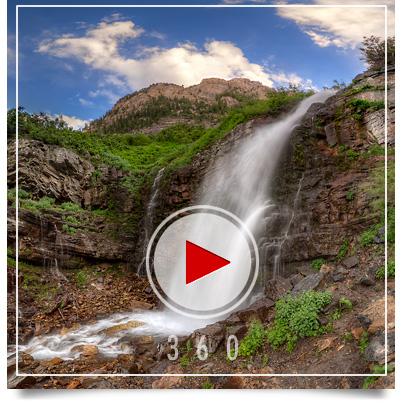Mount Timpanogos Waterfall-3D Panorama